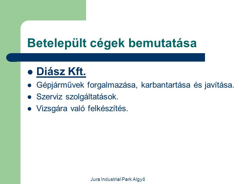 Jura Industrial Park Algyő Betelepült cégek bemutatása  GLB Alkatrészgyártó és Szerelőipari Kft.