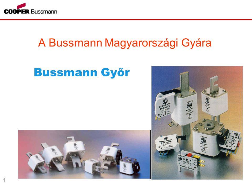 1 A Bussmann Magyarországi Gyára Bussmann Győr