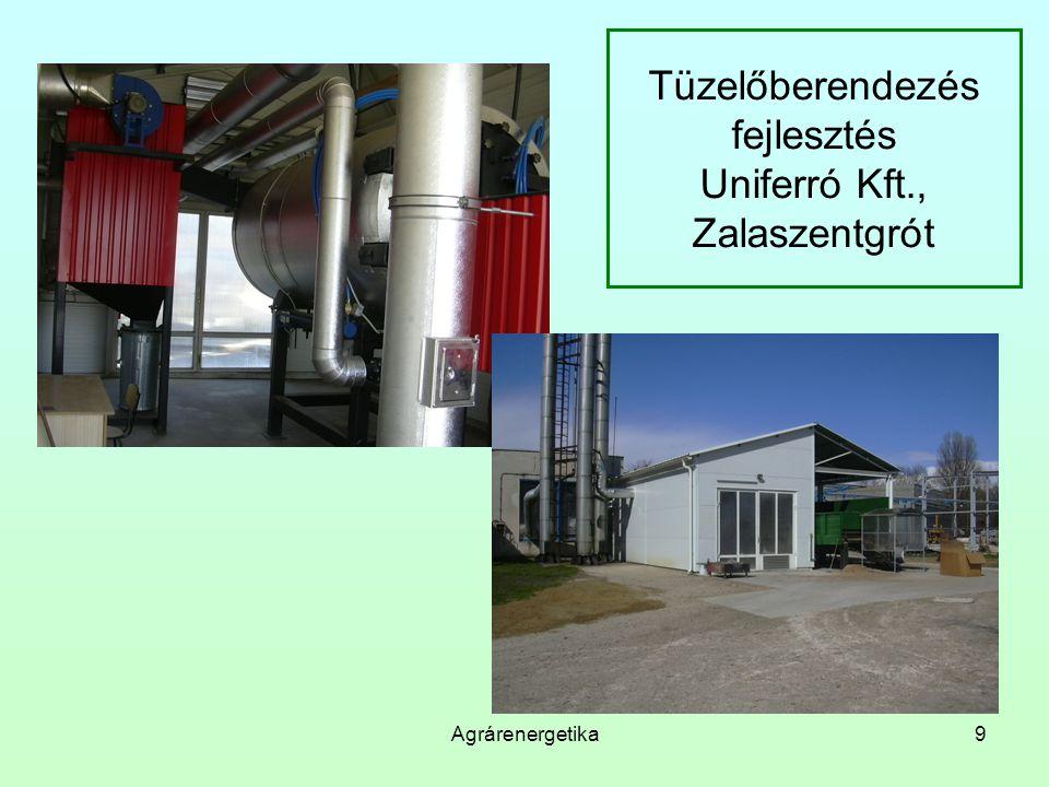 Agrárenergetika9 Tüzelőberendezés fejlesztés Uniferró Kft., Zalaszentgrót