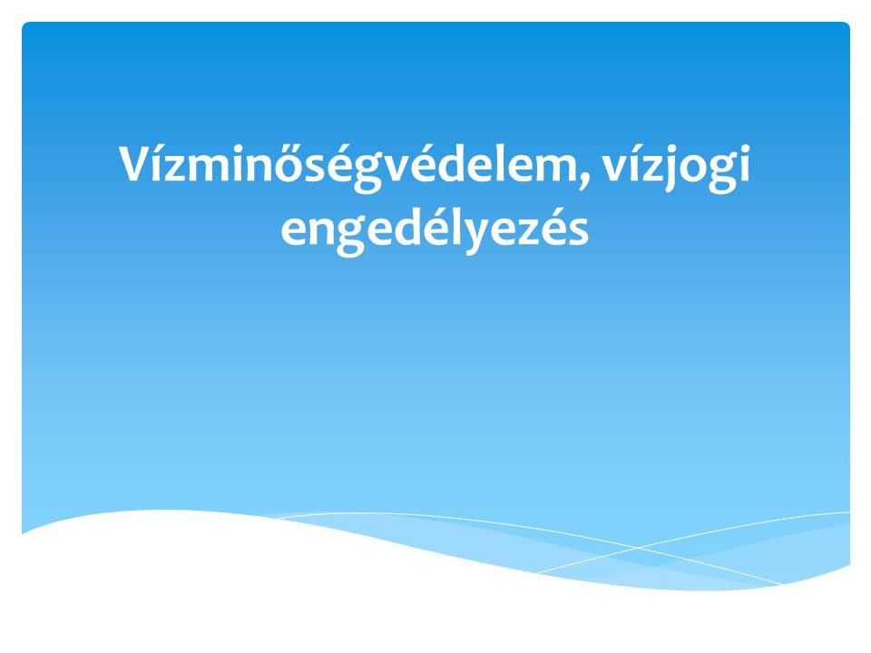 Vízminőségvédelem, vízjogi engedélyezés