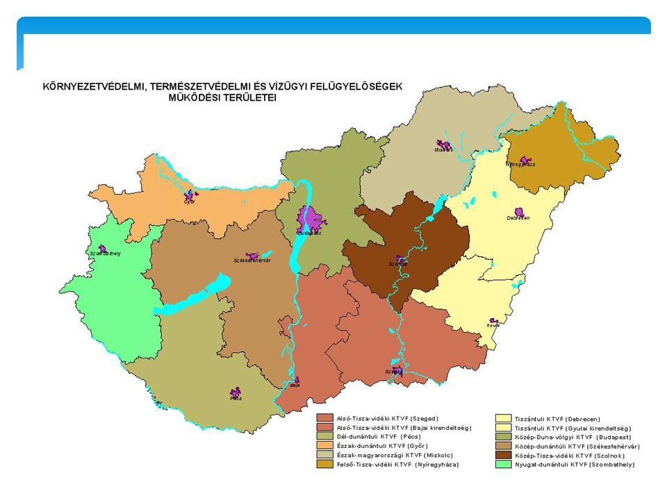 Vízügyi igazgatóságok Vízügyi hatóságok