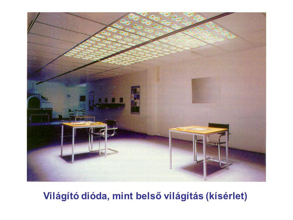 Világító dióda, mint belső világítás (kísérlet)