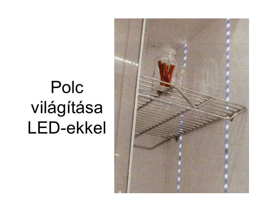 Polc világítása LED-ekkel