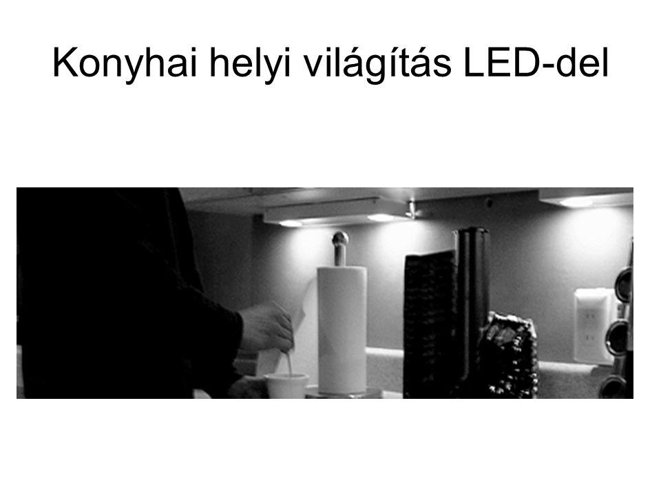 Konyhai helyi világítás LED-del
