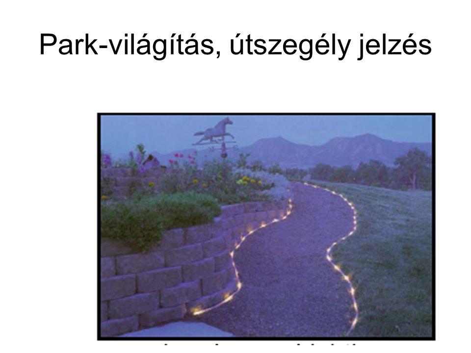 Park-világítás, útszegély jelzés