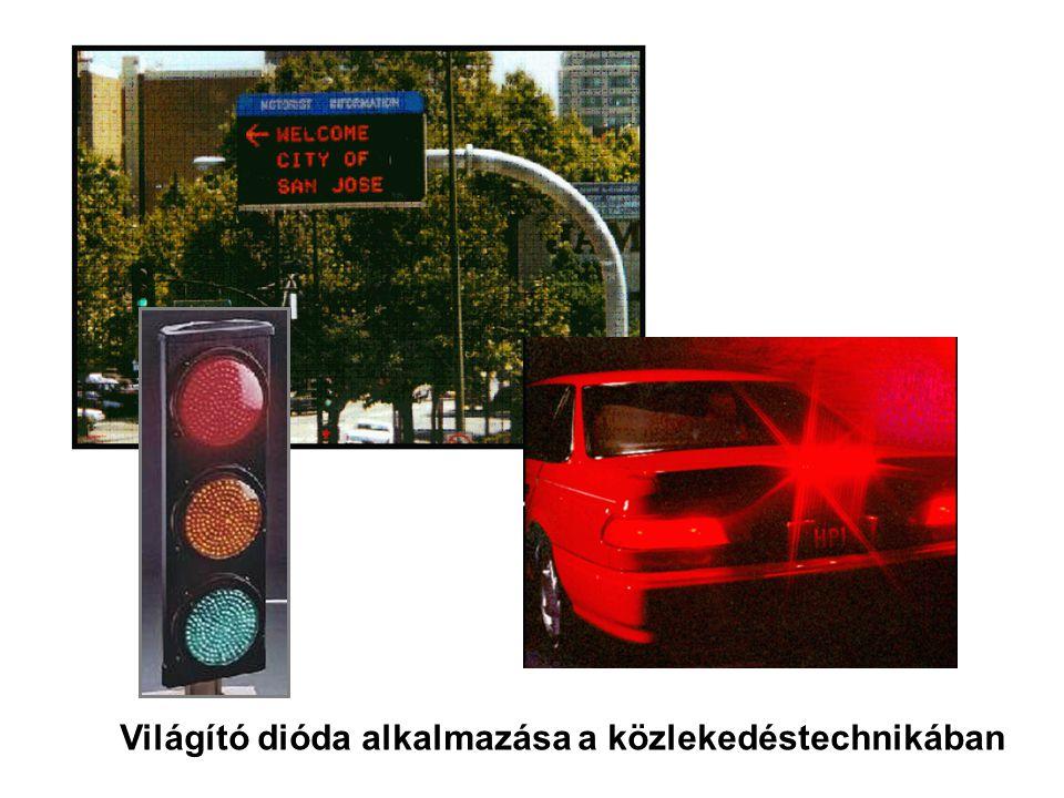 Világító dióda alkalmazása a közlekedéstechnikában