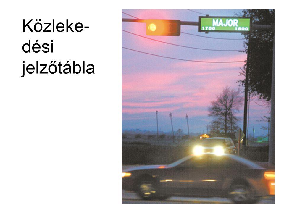 Közleke- dési jelzőtábla