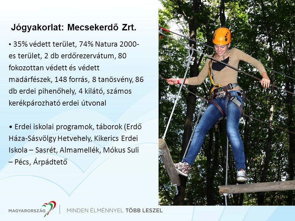 Jógyakorlat: Mecsekerdő Zrt. • 35% védett terület, 74% Natura 2000- es terület, 2 db erdőrezervátum, 80 fokozottan védett és védett madárfészek, 148 f