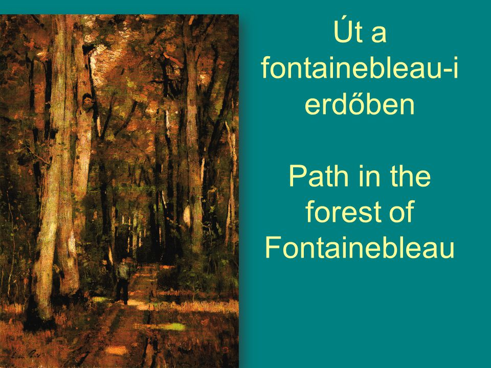 Út a fontainebleau-i erdőben Path in the forest of Fontainebleau