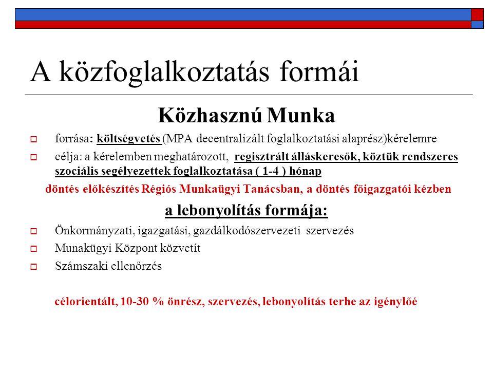 Köszönöm a figyelmet! SZMM Közmunka Tanács T: 471-5200 Email: kozmunka@szmm.gov.hu