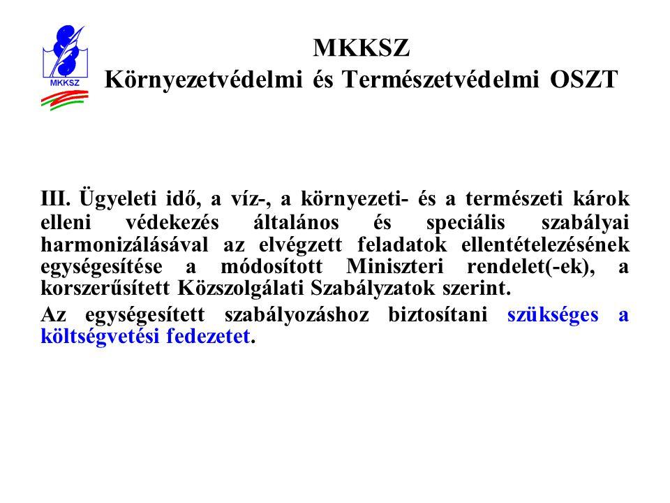 MKKSZ Környezetvédelmi és Természetvédelmi OSZT III.