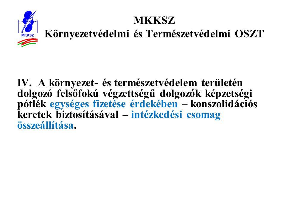 MKKSZ Környezetvédelmi és Természetvédelmi OSZT IV.