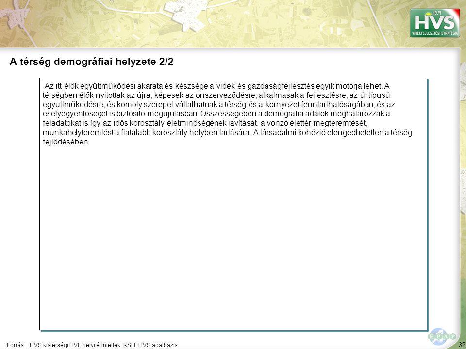 32 Az itt élők együttműködési akarata és készsége a vidék-és gazdaságfejlesztés egyik motorja lehet.