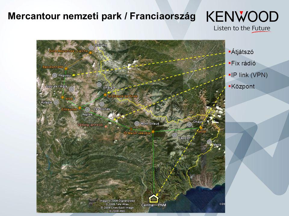 Mercantour nemzeti park / Franciaország  Átjátszó  Fix rádió  IP link (VPN)  Központ
