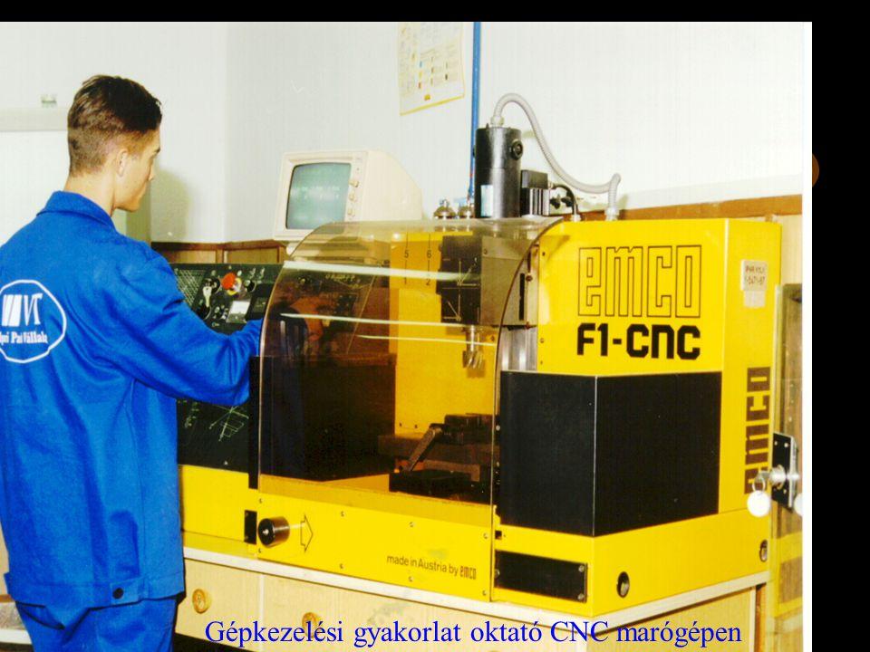 Gépkezelési gyakorlat oktató CNC marógépen