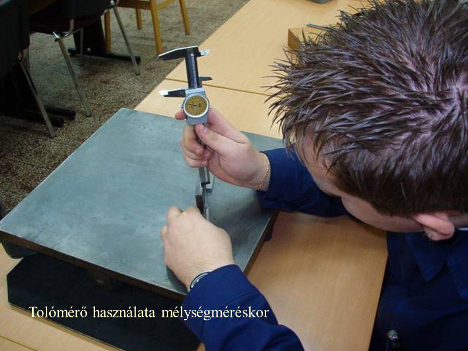 Tolómérő használata mélységméréskor