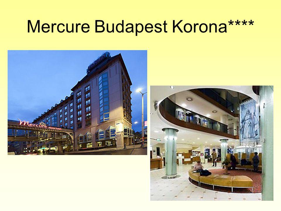 Mercure Budapest Korona**** •Korábban a Pannónia Hotels tulajdonában volt
