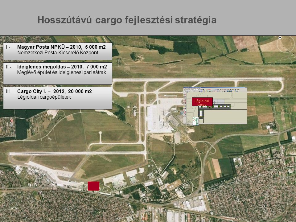 www.bu d.hu Page 10 Légioldali cargo I -Magyar Posta NPKÜ – 2010, 5 000 m2 Nemzetközi Posta Kicserélő Központ II -Ideiglenes megoldás – 2010, 7 000 m2