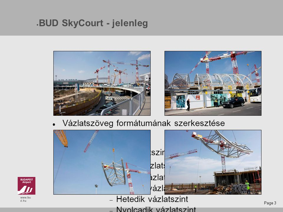 www.bu d.hu Page 14 Budapest Airport cargo forgalom célkitűzései