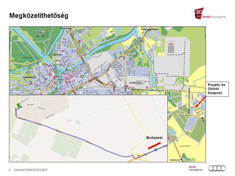 3Koncz judit G/GQ-C3 2013.06.27 Megközelíthetőség Projekt- és Oktató Központ Budapest