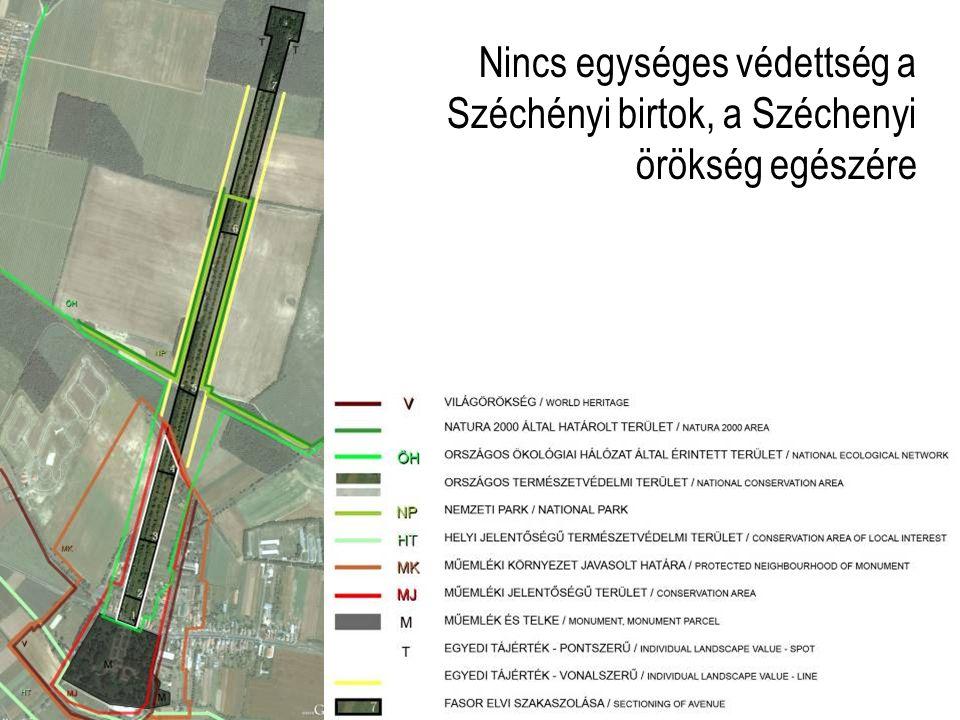 Nincs egységes védettség a Széchényi birtok, a Széchenyi örökség egészére