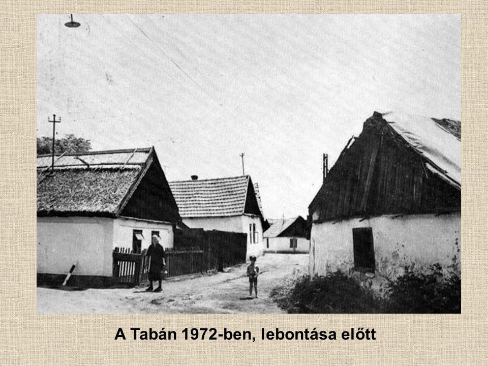 A Tabán 1972-ben, lebontása előtt