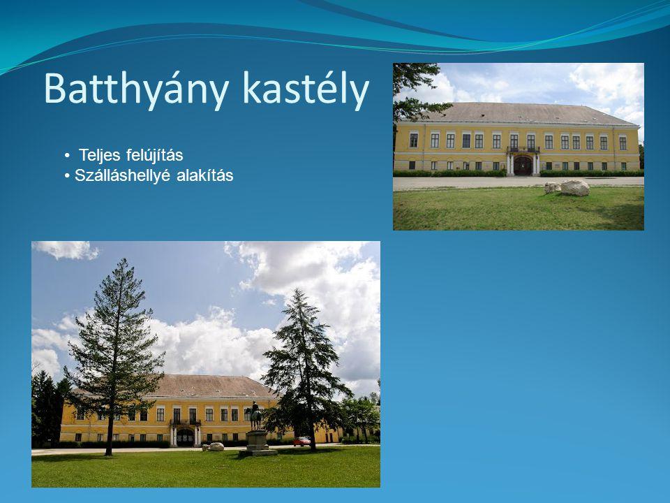 Batthyány kastély • Teljes felújítás • Szálláshellyé alakítás