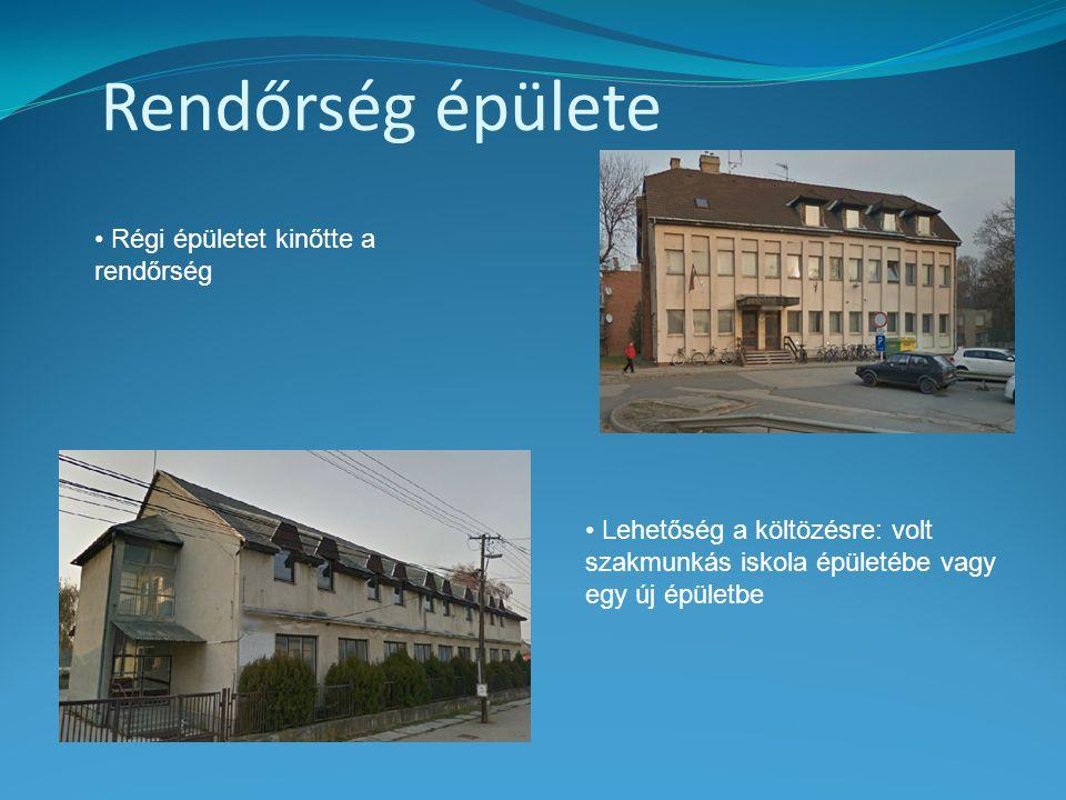 Rendőrség épülete • Régi épületet kinőtte a rendőrség • Lehetőség a költözésre: volt szakmunkás iskola épületébe vagy egy új épületbe
