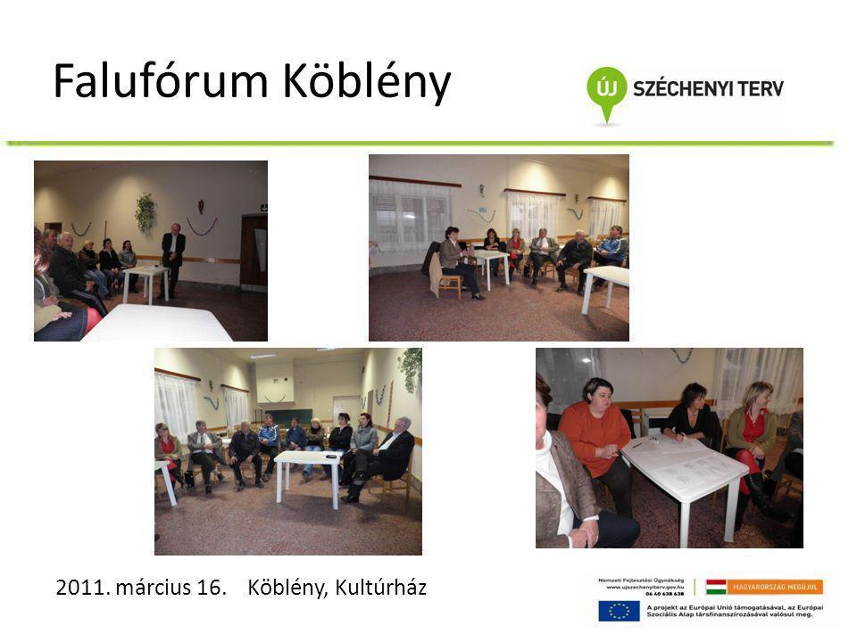 Falufórum Köblény 2011. március 16. Köblény, Kultúrház