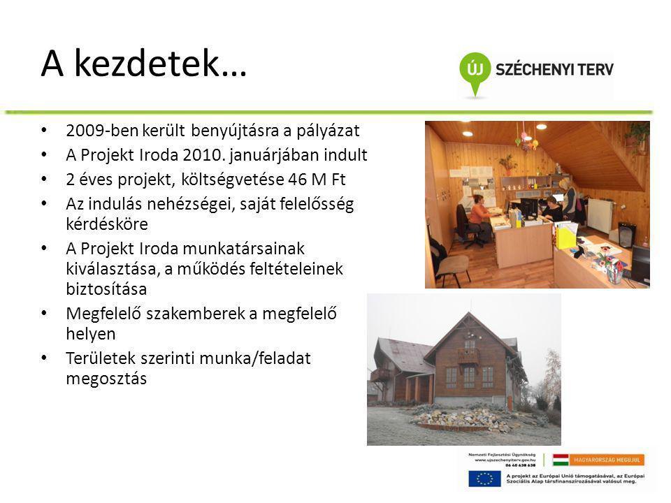 A kezdetek… • 2009-ben került benyújtásra a pályázat • A Projekt Iroda 2010. januárjában indult • 2 éves projekt, költségvetése 46 M Ft • Az indulás n