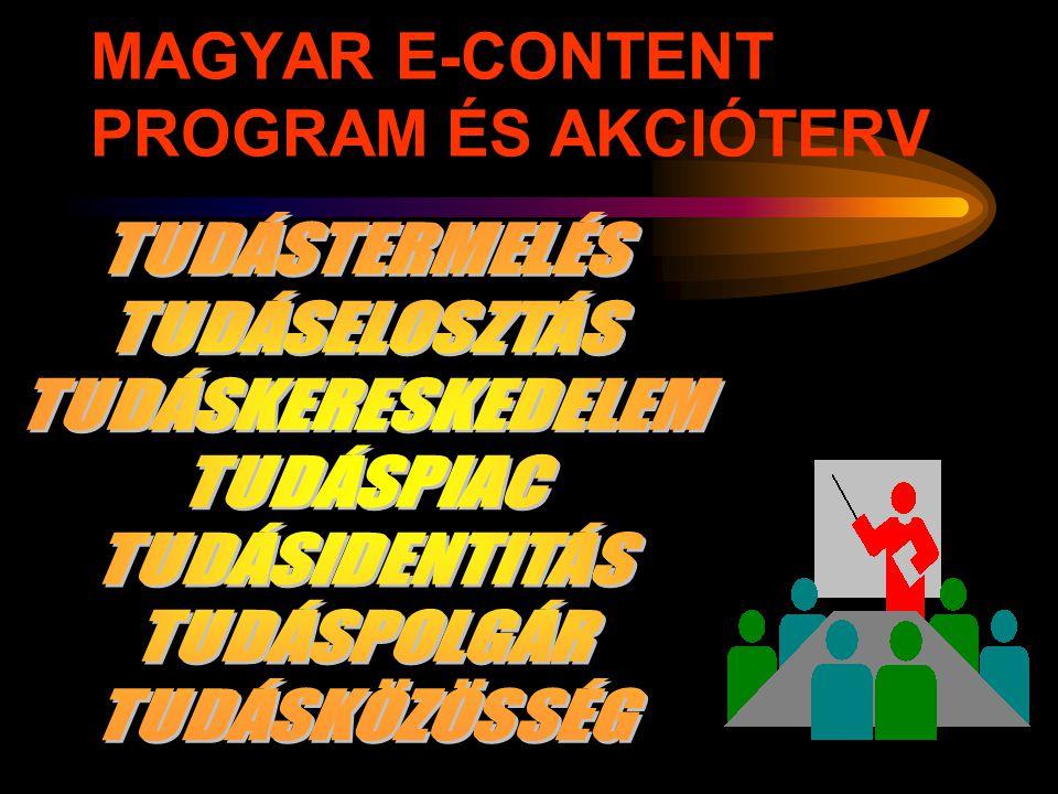 MAGYAR E-CONTENT PROGRAM ÉS AKCIÓTERV