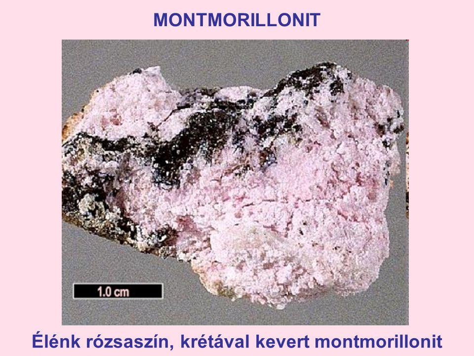 MONTMORILLONIT Élénk rózsaszín, krétával kevert montmorillonit