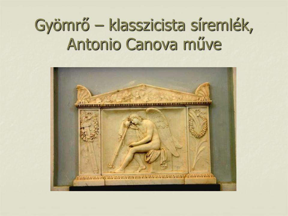 Gyömrő – klasszicista síremlék, Antonio Canova műve