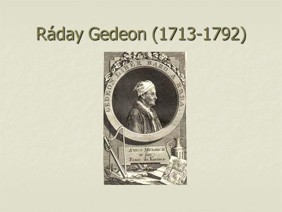 Ráday Gedeon (1713-1792)