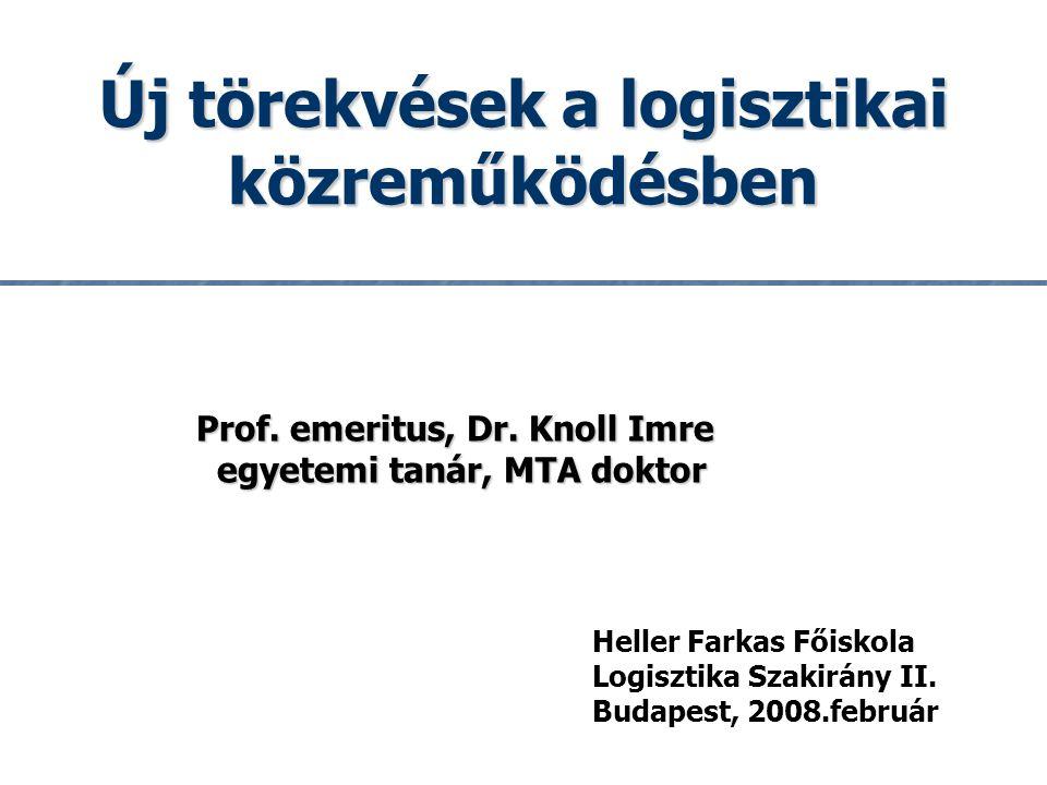 1 Heller Farkas Főiskola Logisztika Szakirány II.