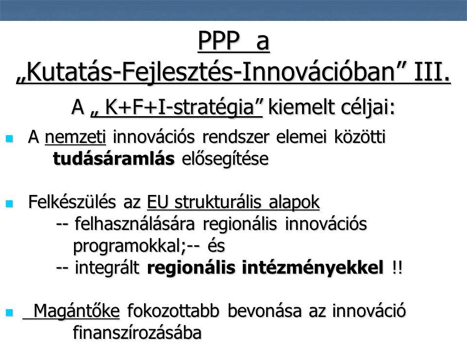 7  A nemzeti innovációs rendszer elemei közötti tudásáramlás elősegítése tudásáramlás elősegítése  Felkészülés az EU strukturális alapok -- felhasználására regionális innovációs -- felhasználására regionális innovációs programokkal;-- és programokkal;-- és -- integrált regionális intézményekkel !.