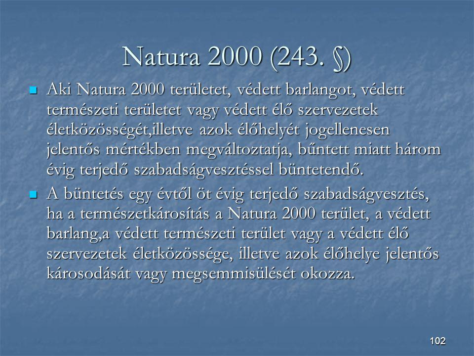 102 Natura 2000 (243.