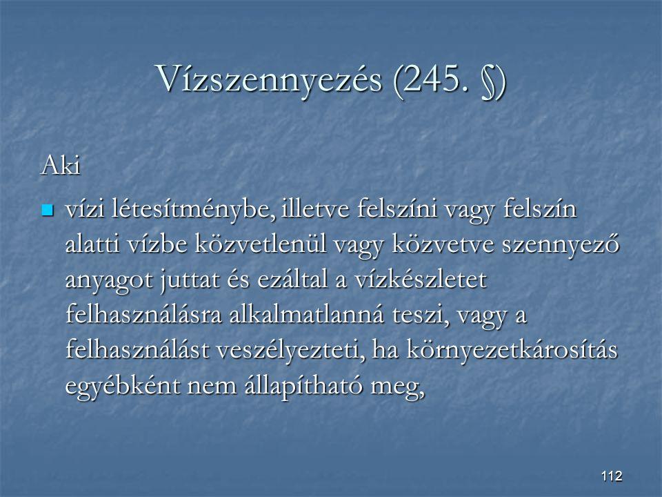 112 Vízszennyezés (245.