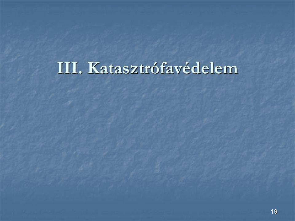 19 III. Katasztrófavédelem