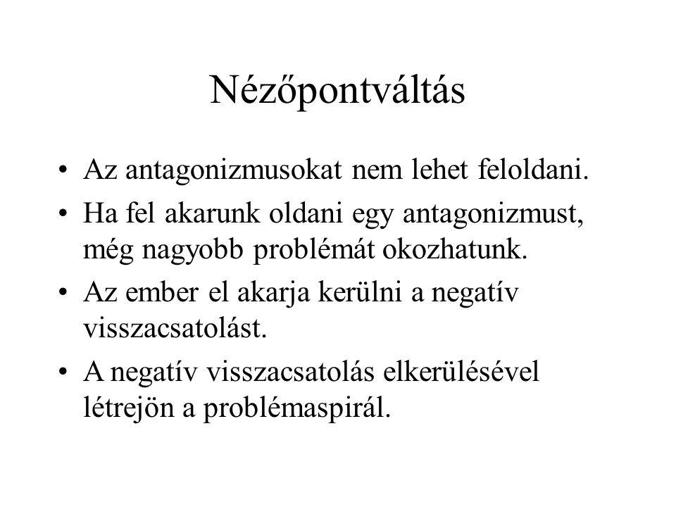 Nézőpontváltás •Az antagonizmusokat nem lehet feloldani.