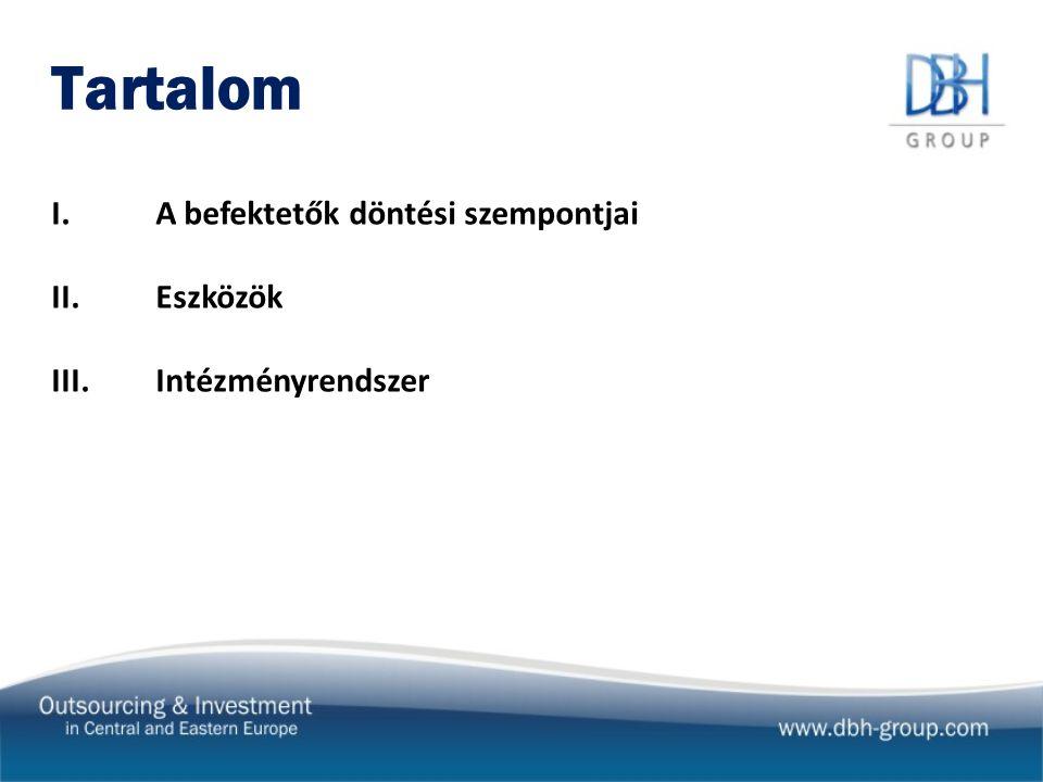 Befektetés-ösztönzési intézményrendszer Közép-Kelet-Európában - Általában egy állami szervezet foglalkozik befektetés-ösztöntéssel pl.