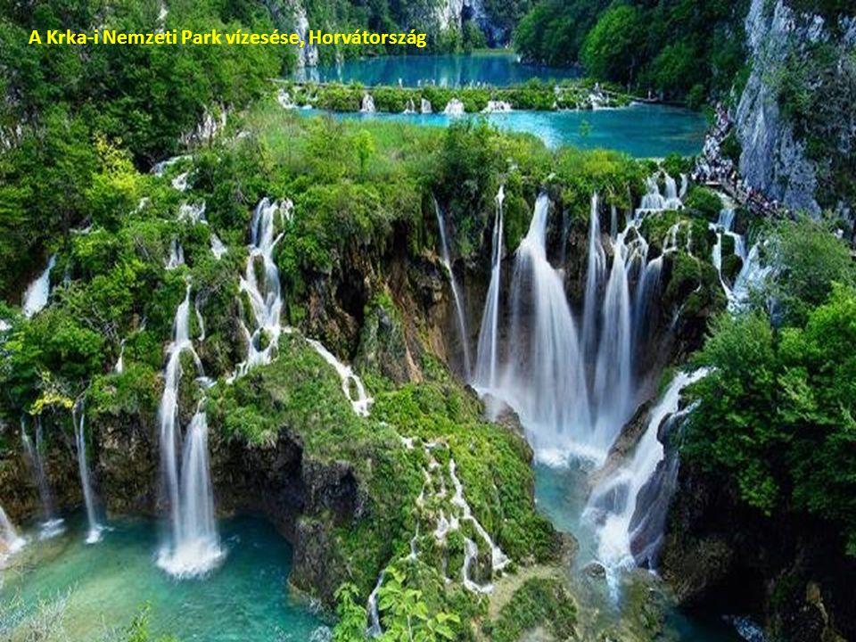 A Krka-i Nemzeti Park vízesése, Horvátország