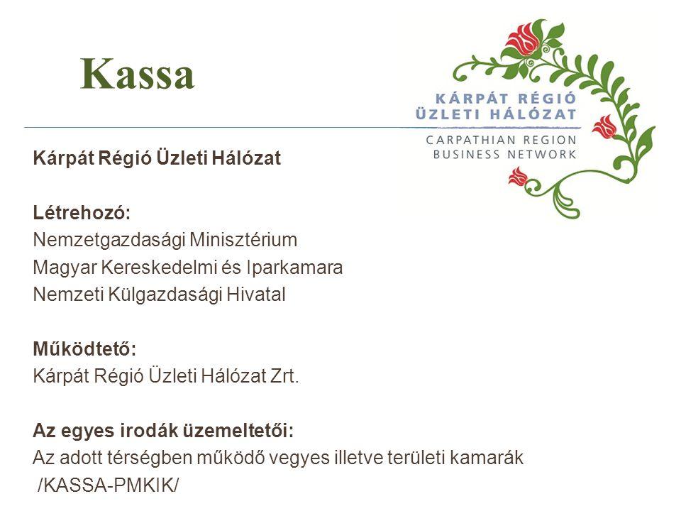 Kárpát Régió Üzleti Hálózat Létrehozó: Nemzetgazdasági Minisztérium Magyar Kereskedelmi és Iparkamara Nemzeti Külgazdasági Hivatal Működtető: Kárpát R