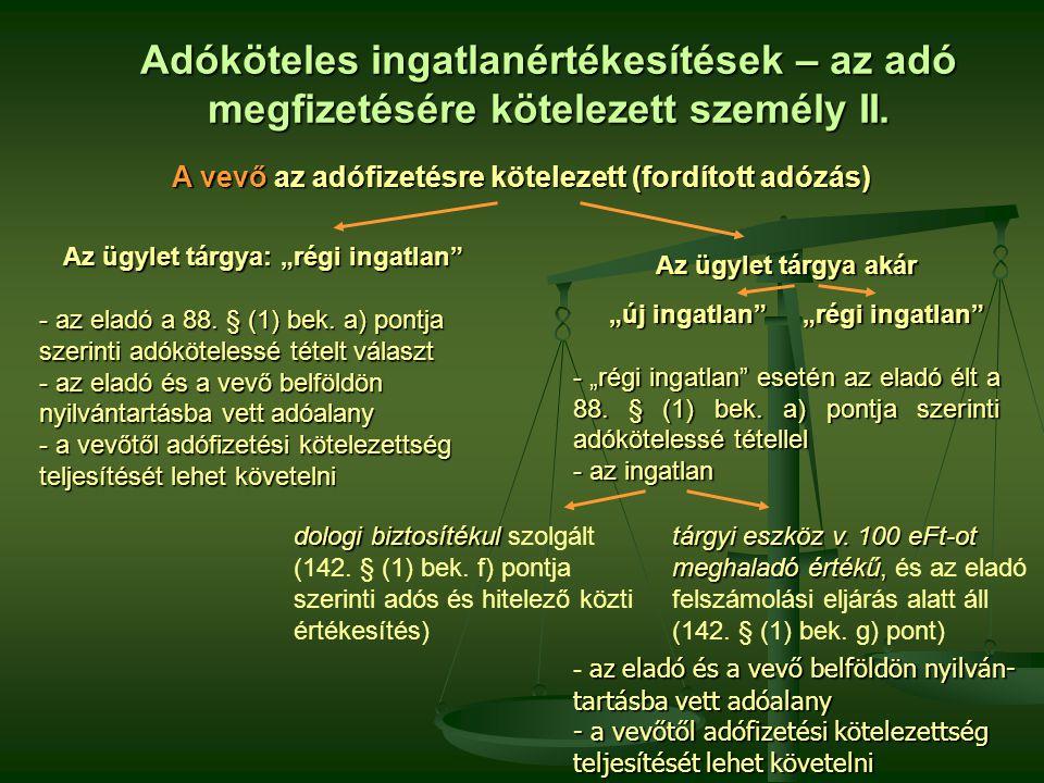 Fordított adózás A 142.