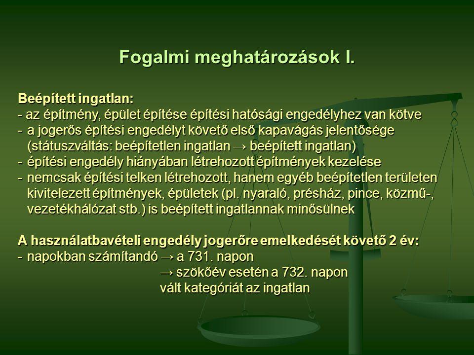 Fogalmi meghatározások II.