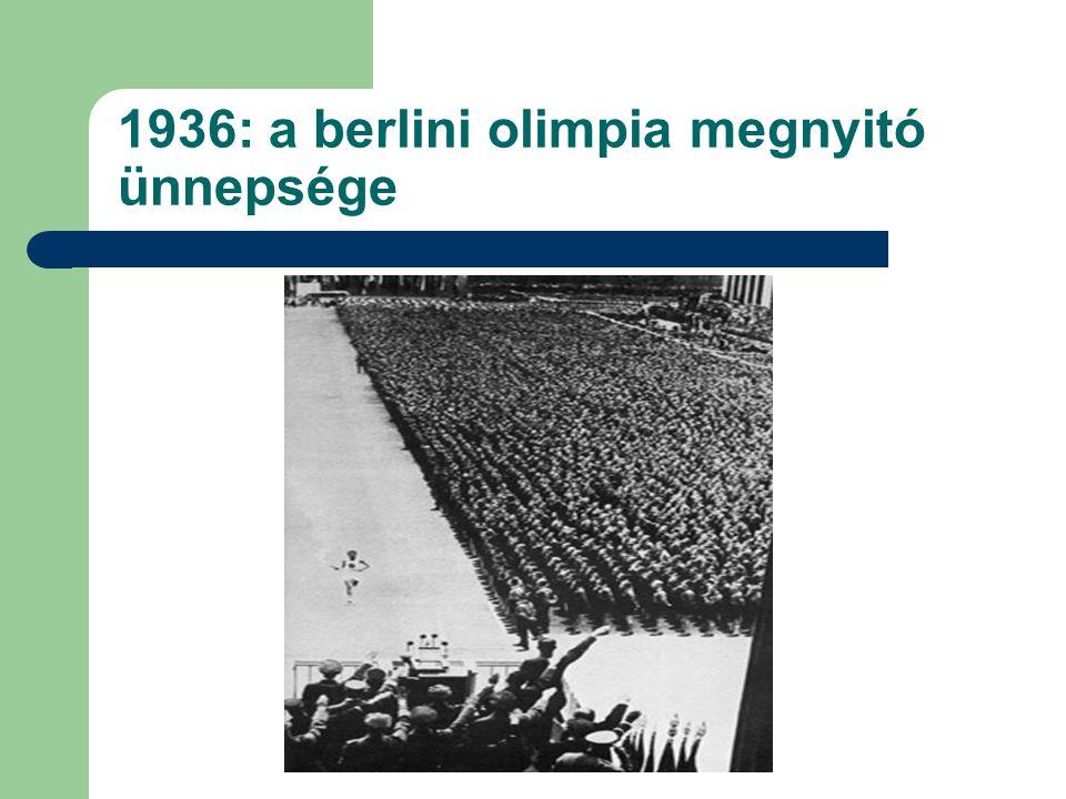 1936: a berlini olimpia megnyitó ünnepsége
