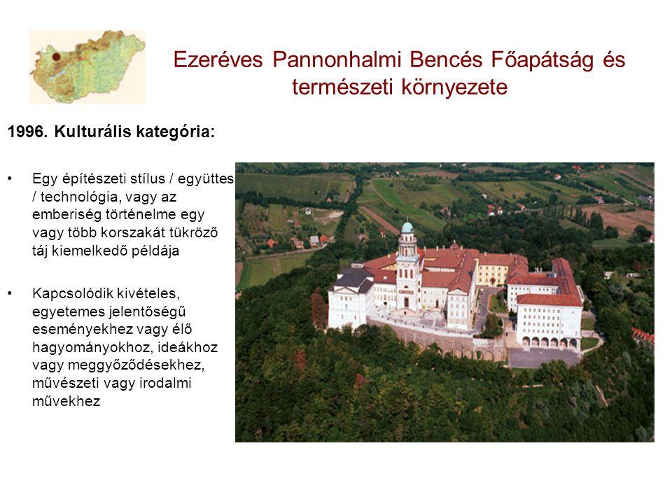 Ezeréves Pannonhalmi Bencés Főapátság és természeti környezete 1996.