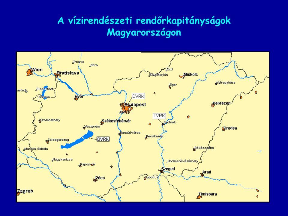 A vízirendészeti rendőrkapitányságok Magyarországon