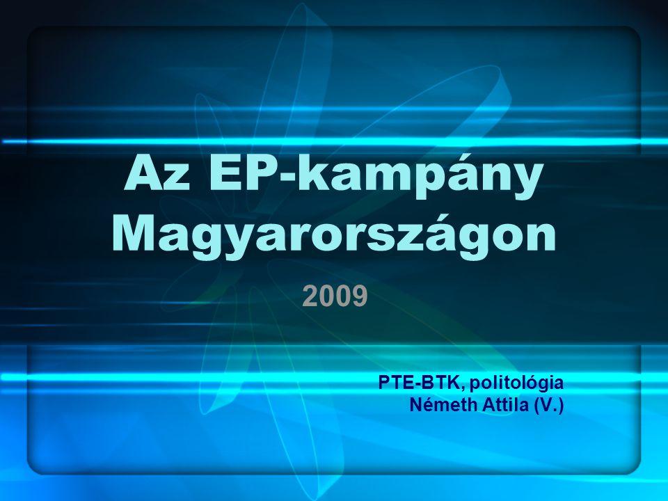 Az EP-kampány Magyarországon 2009 PTE-BTK, politológia Németh Attila (V.)