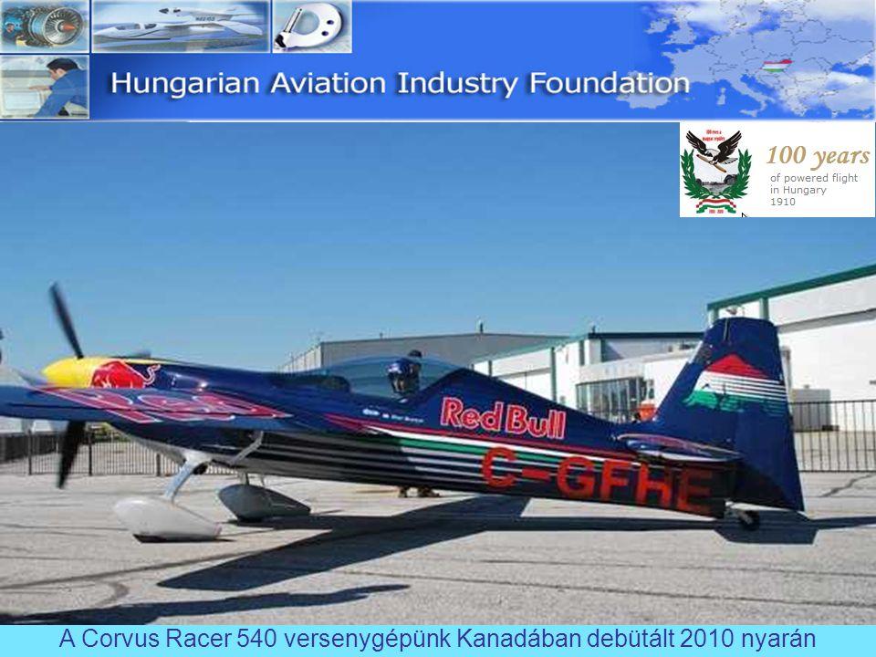 A legújabb Corvus Fusion kompozit gépünk az Aero 2012 kiállításon debütált